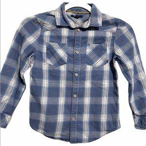 Kiabi Plaid Button Down Shirt Size 8